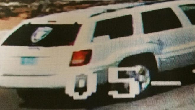 The FBI and Las Cruces Police Department are looking for a white Jeep Grand Cherokee SUV that was involved in the May 24, 2017, robbery of a Las Cruces bank.