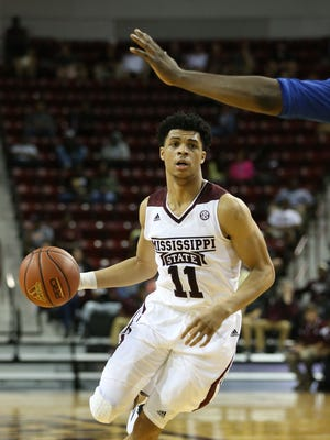Mississippi State freshman Quinndary Weatherspoon filled in at point guard Friday night.