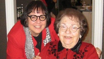 Sonya Avakian with her mother, Arshalouse Avakian.