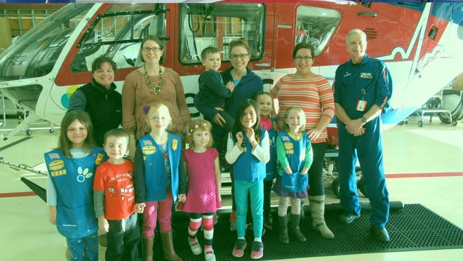 The Daisy Scouts from Coolidge Elementary School in Neenah visited ThedaStar earlier this year to learn about emergency response and making safe choices.
