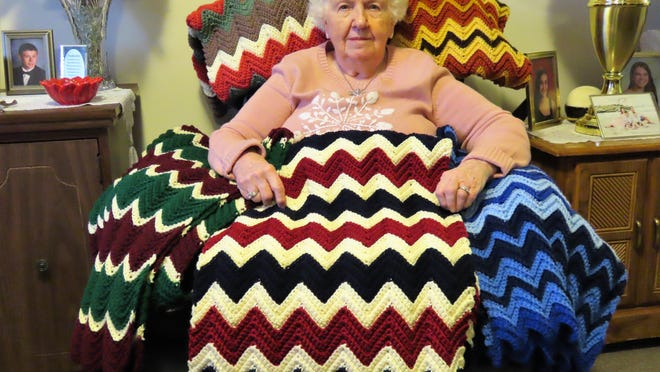 Dorothy Weber of Port Jervis has been making blankets for veterans for years.