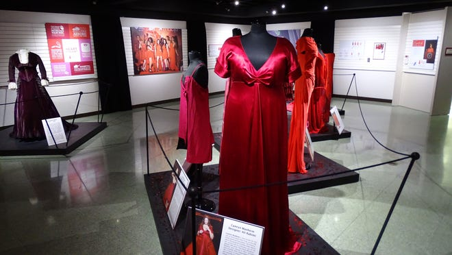 The Hayes Presidential Center's new Dressed for Life: First Ladies' & Red Dress Collection opened Wednesday and features red dresses from nine first ladies and 10 celebrities.