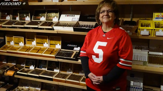 Sue Marr owns North Coast Cigar with her husband, Shannon Marr.