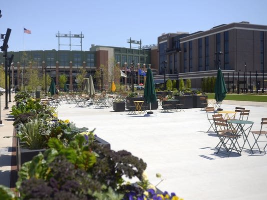 Titletown District plaza