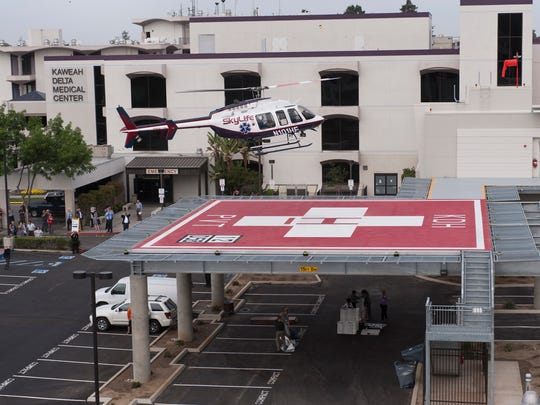 Kaweah Delta Medical Center introduced its new helipad