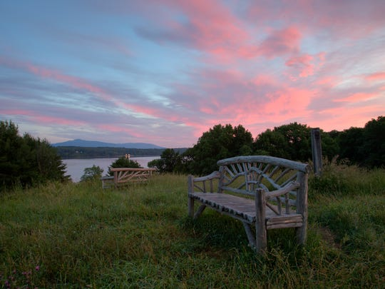 Sweeping views of the Hudson River and rustic pavilions