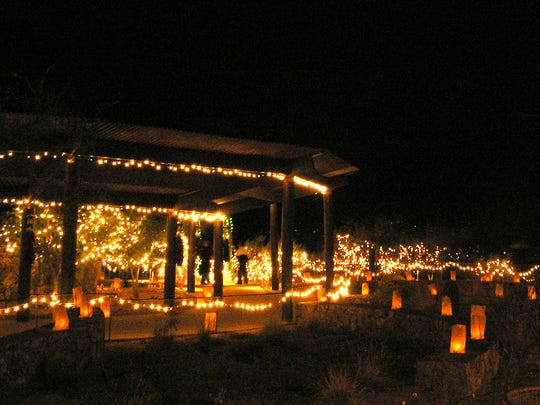Holiday Nights at Tohono Chul Park in Tucson.