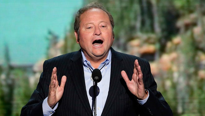 Brian Schweitzer, then the governor of Montana, addresses the Democratic National Convention in Charlotte, N.C., in September 2012.