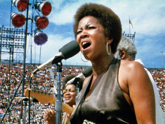 Mavis Staple of The Staple Singers performs at the