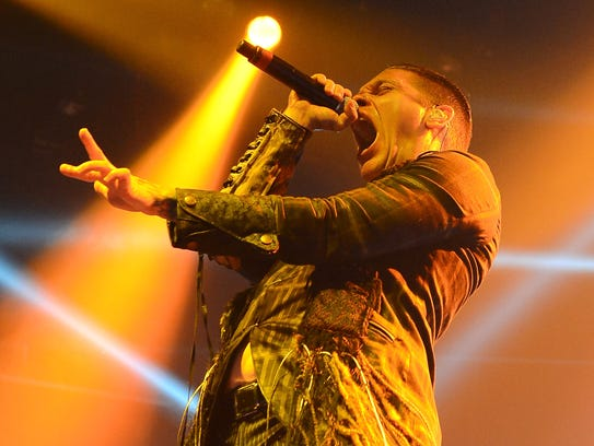 Shinedown singer Brent Smith and his bandmate Zach