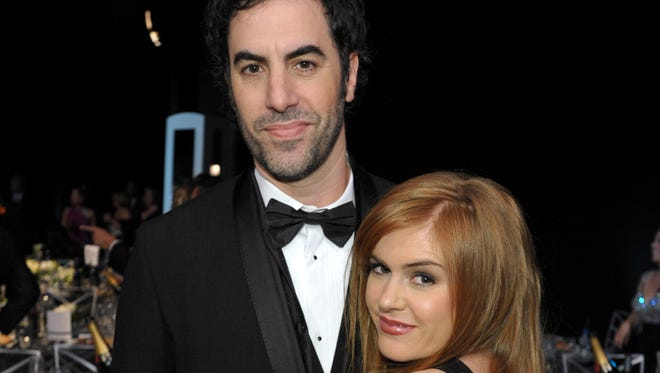 Sacha Baron Cohen and his wife Isla Fisher at the 19th Annual Screen Actors Guild Awards in Los Angeles, in January 2013.