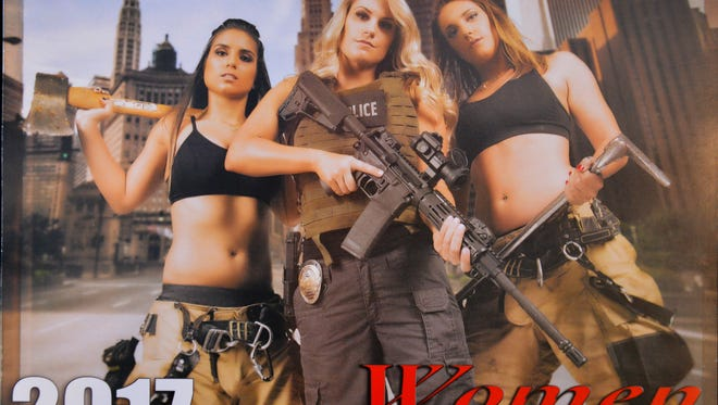 This was the cover photo, shot by Kevin McSparron of HKM Photography, for the Women Behind the Badge calendar that raised money for Camp Amigo.