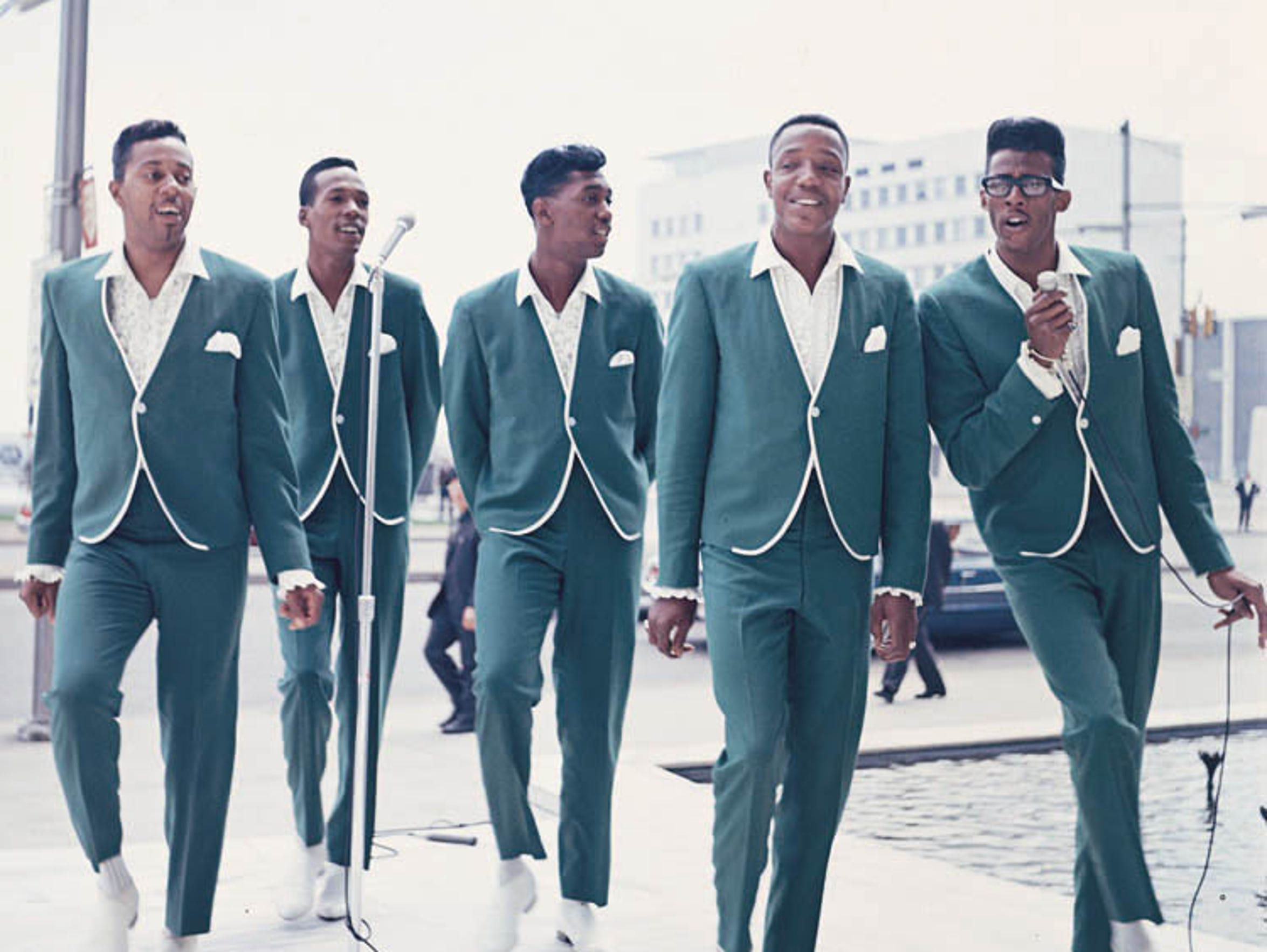 The Temptations on Detroit's Jefferson Avenue in 1965