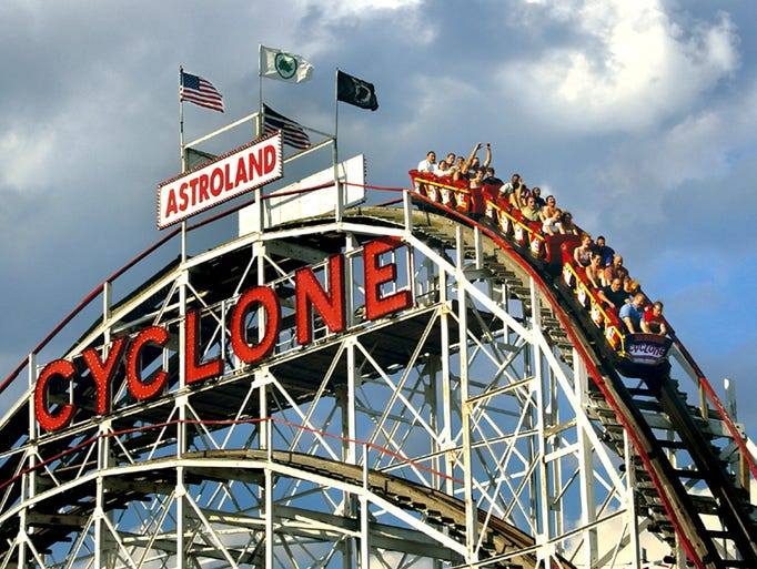 One of the country's most famous coasters, the Cyclone at Luna Park in New York's Coney Island has been recently renovated, making for a much smoother ride.
