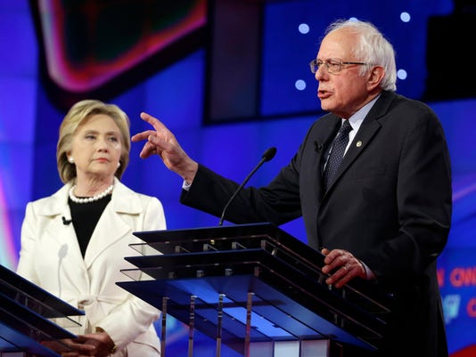 AP DEM 2016 CLINTON AND SANDERS A ELN FILE USA NY