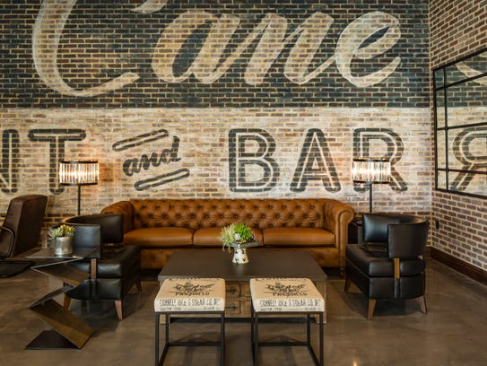 The lounge at Grain & Cane.