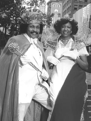 HISTORY MAKERS        Randle Catron and Dorothy Jean Jackson, as king and queen of the Cotton Makers Jubilee, will be part of the sweeping changes in Cotton Carnival's structure for 1981.  Cotton Makers join six former secret societies - Memphi, Osiris, Ptah, Ra-Met, Shelbi and Sphinx - and the Grand Krewe of the Nile, the newest carnival organization as carnival grand krewes.