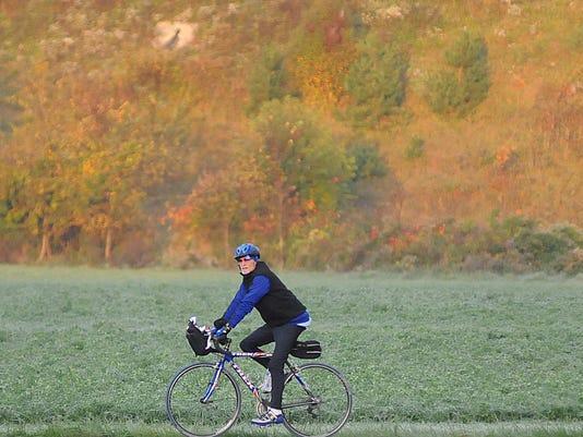 file art bicyclist