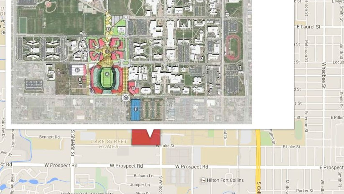 Map Proposed Oncampus CSU Stadium Location - Csu campus map