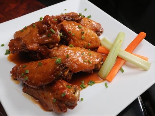 The Cider Chipotle wings at Six Degrees of Separation brewpub and restaurant on Main Street in Ossining.