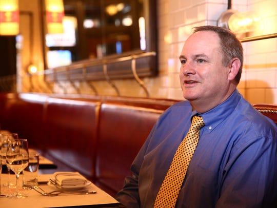 Owner of Braserie 292, Charles Fells at the restaurant
