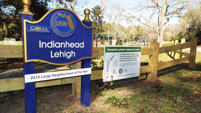 """The Indianhead Lehigh neighborhood in southeast Tallahassee encompasses 900 homes and two parks, including Optimist Park. All the Indianhead names included """"Nene,"""" the Creek word for trail."""