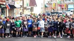 Over 400 plus runners in the Kilted Run
