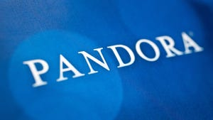 The Pandora Media Inc. stock drops as Apple unveils its new music streaming service.