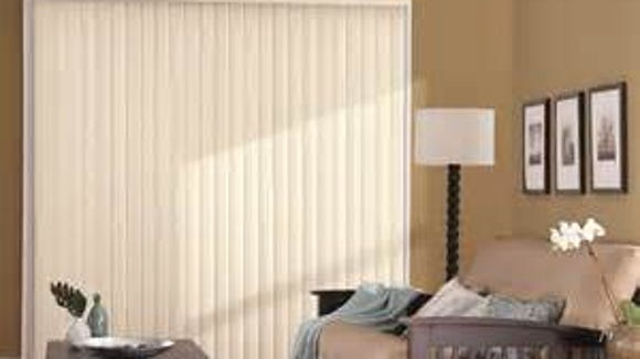 Vertical blinds filter light that can damage floors