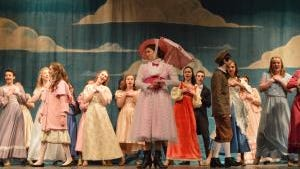 """The cast of McAuley High School's Production of Disney and Cameron Mackintosh's Mary Poppins sing """"Jolly Holiday."""""""
