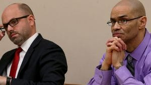 Jose Torres with lawyer David Abbatoy at recent hearing.