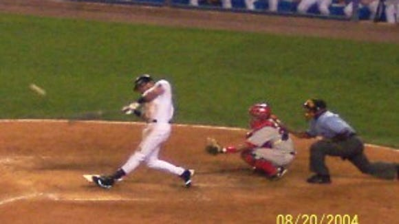 Jeter at bat, August 20, 2004, photo courtesy of Rick Sherin.