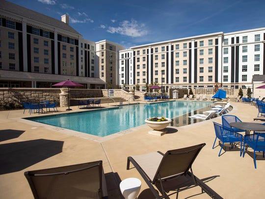 Guests staying at The Guest House at Graceland can take advantage of the facility's pool and lawn. The 450-room hotel was built adjacent to Elvis Presley's Graceland, and may soon have a 150-room addition.