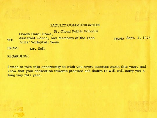 A letter from a scrapbook of the Technical High School