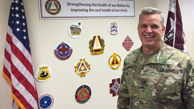 Col. George Hucal, who was born at Beaumont Army hospital in El Paso, is relinquishing command of Dental Command Central on June 1.