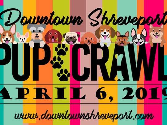 Pup Crawl 2019 event slide