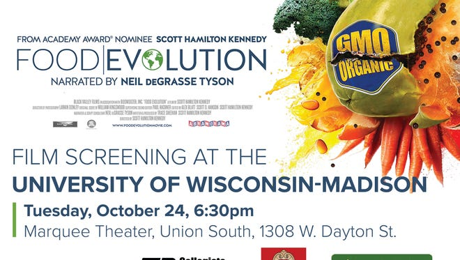 "A screening for the documentary, ""Food Evolution,"" will take place at 6:30 p.m., Tuesday, Oct. 24, in Union South in the Marquee Theater on the University of Wisconsin-Madison campus."