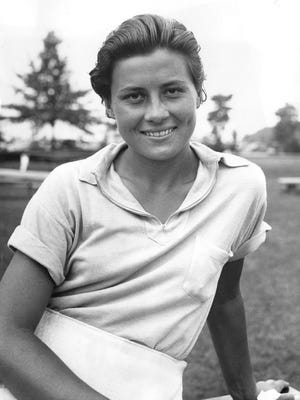 Marion Miley in 1935, after she won the Women's Western Amateur Championship: Miley grew up in Fort Pierce, went to FSU and considered Florida her home. This portrait is among 1,000 photographs recently acquired by the USGA from the Howard Schickler Collection.