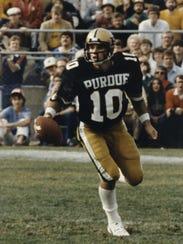 Purdue quarterback Scott Campbell in 1981