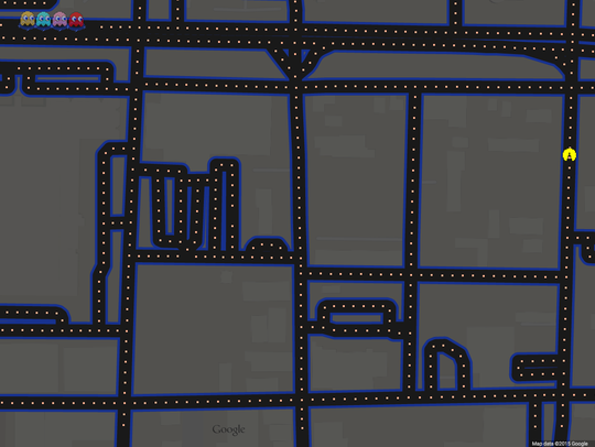 Playable version of Pac-Man on Springfield streets