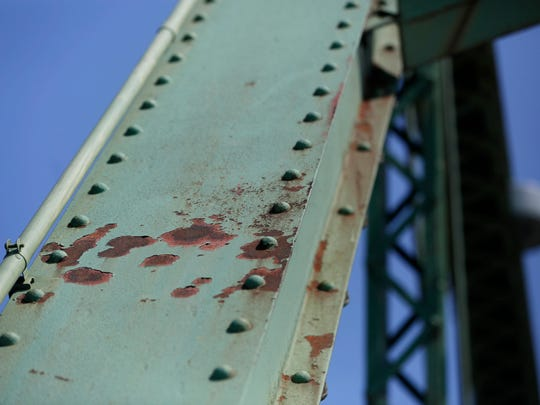Signs of deterioration are visible Friday, Aug. 21,