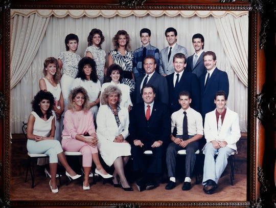 The Spano family  Top row, l to r: Camille Piria, Victoria