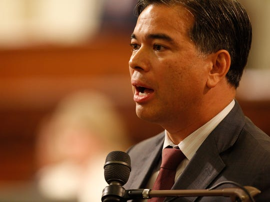 Alameda Assemblyman Rob Bonta, sponsor of legislation to allow the state to trademark pot products.
