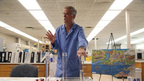 Gordon Brand, senior chemist for Des Moines water works