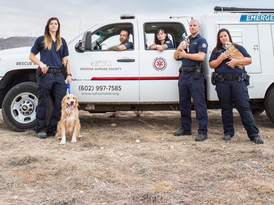 """Animal Cops Phoenix"" features (from left) Kelley Mallon,"