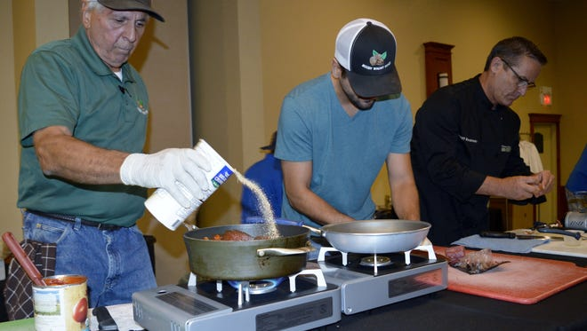 Sam Sciacca and his son teamed up together in the 2016 Food Fight for Families event.
