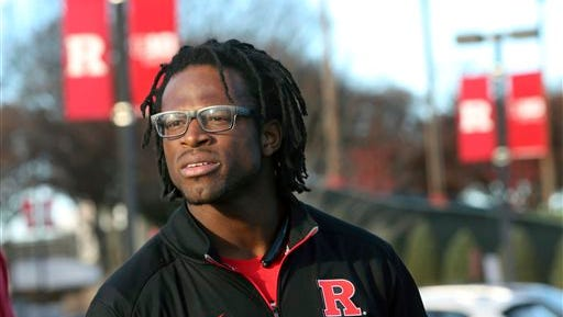 Rutgers co-captain Quentin Gause expressed his emotions Sunday after learning coach Kyle Flood was fired.