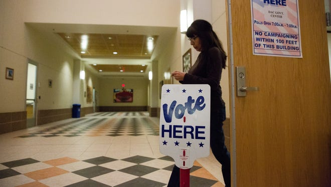 As of 4:00pm Tuesday, 215 voters had cast ballots for the Las Cruces Public School Board at the Doña Ana County Government Center. February 7, 2017.