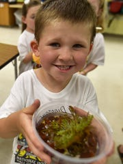 Easton Fellner, 5, learned about an ancient species