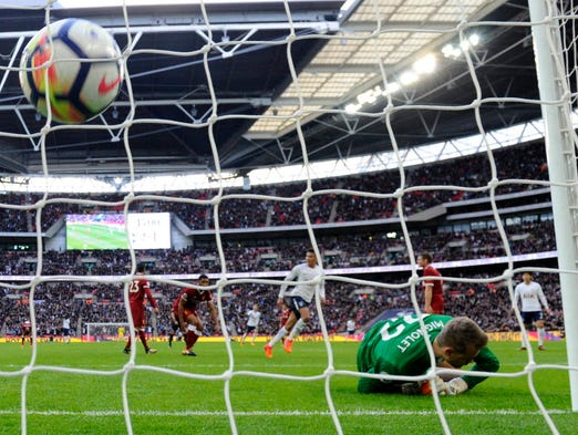 Tottenham Hotspur's Dele Alli scores a goal against